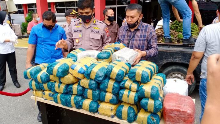 Begini Skema Perjalanan 100 Kg Ganja Aceh Berbau Pisang Menuju Malaysia