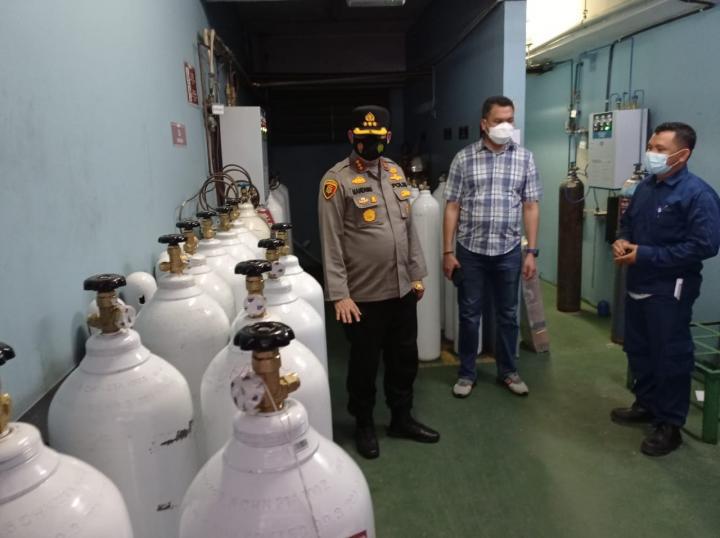 Cek Stok Oksigen, Kapolresta Sambangi Rumah Sakit