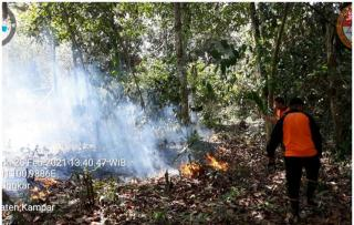 Lahan Seluas 1,5 Ha Terbakar di Desa GantingKampar