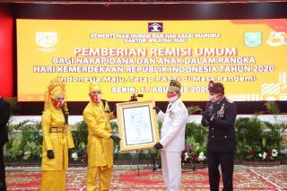 HUT ke-75 RI, 6.160 Napi di Riau Dapat Remisi, 94 Bebas Langsung