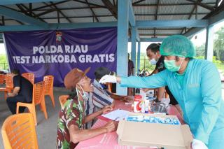 Ditresnarkoba Polda Riau Test Narkoba Ratusan Karyawan PT PBI