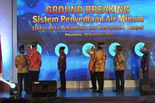 Gubernur Resmikan Groundbreaking Proyek Air Minum Lintas Pekanbaru-Kampar