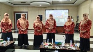 Pengurus DWP Inhu Ikuti Halal Bihalal 1442 H dan Sosialisasi AD/ ART Hasil MUNAS IV
