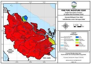 Terra Aqua Deteksi 243 Hotspot di Pulau Sumatera, Riau Terbanyak