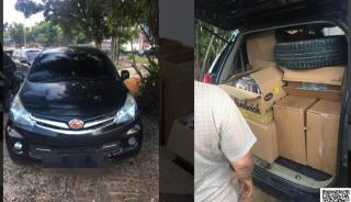 Bea Cukai Sita 120.520 Batang Rokok Ilegal di Jalan HR Soebrantas Panam