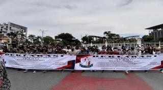 Aksi Demo Mahasiswa Riau: Indonesia Masih Baik-Baik Saja