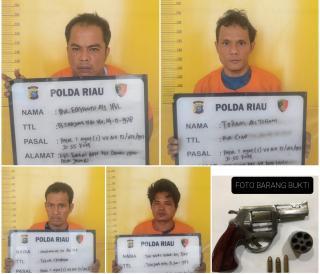 Empat Perampok Bersenpi Asal Jambi Gagal Merampok di Pekanbaru