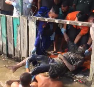 Mayat Pria Mengapung di Sungai Gegerkan Warga Dumai Barat
