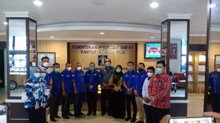 Kunjungi Kanwil Kemenkumham, Demokrat Riau Solid Dukung AHY